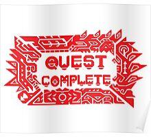 Monster Hunter Quest Complete Poster
