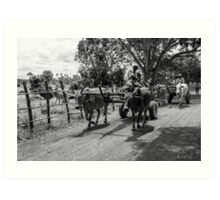 Cambodia:  Transport by Bovine Art Print