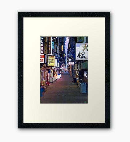 Night in Japan  Framed Print