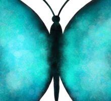 Blue Morpho Butterfly Watercolor Sticker