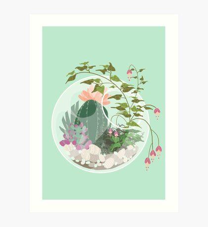 Round Terrarium Art Print