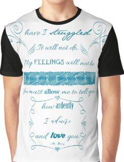 Pride and Prejudice Quote Graphic T-Shirt