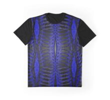 Electric Blue Ribcage Graphic T-Shirt