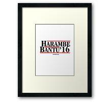 Harambe Bantu Reagen Campaign Framed Print