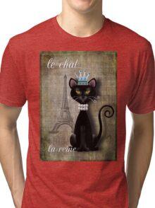 Le Chat, La Reine Tri-blend T-Shirt