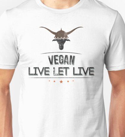 Vegan Live Let Live Unisex T-Shirt