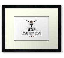 Vegan Live Let Live Framed Print