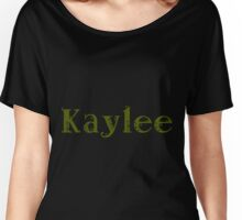 Kaylee - Army Green Women's Relaxed Fit T-Shirt