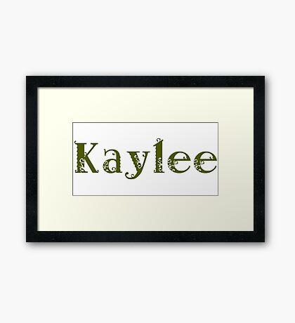 Kaylee - Army Green Framed Print