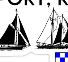 NEWPORT RHODE ISLAND SAILING YACHTING NAUTICAL FLAGS SAIL BOAT YACHT  Sticker