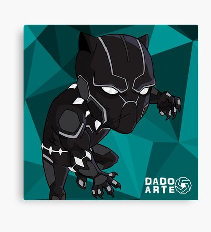 Black Panther Chibi Canvas Print