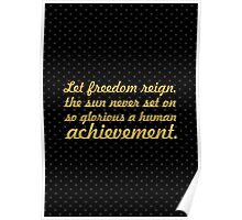 "Let freedom reign... ""Nelson Mandela"" Inspirational Quote Poster"