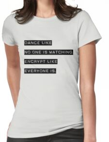 Encrypt like everyone is watching (text only) Womens Fitted T-Shirt