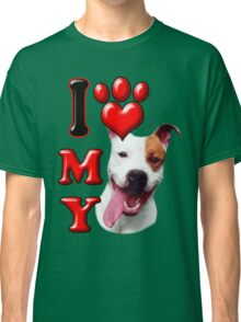 I Love My Pit Bull Classic T-Shirt