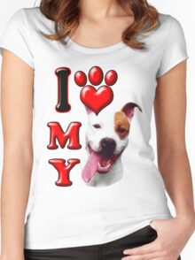 I Love My Pit Bull Women's Fitted Scoop T-Shirt
