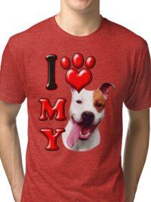 I Love My Pit Bull Tri-blend T-Shirt