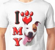 I Love My Pit Bull Unisex T-Shirt