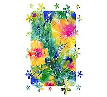 Abstract Flowers Photographic Print