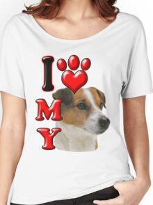 I Love My Jack Russell Women's Relaxed Fit T-Shirt