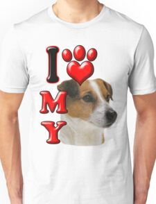 I Love My Jack Russell Unisex T-Shirt