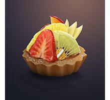Dessert Doodle #04 Fruit Tart Photographic Print