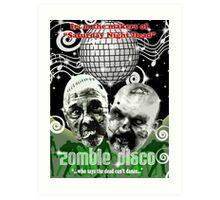 zombie disco Art Print