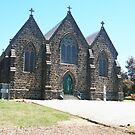 St Patrick's Blue Stone Church, Kilmore, Vic Australia by Margaret Morgan (Watkins)