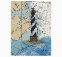 Cape Hatteras Lighthouse NC Nautical Chart Cathy Peek One Piece - Long Sleeve