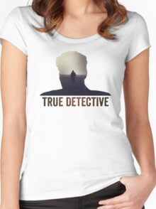 True Detective Intro Tshirt Women's Fitted Scoop T-Shirt