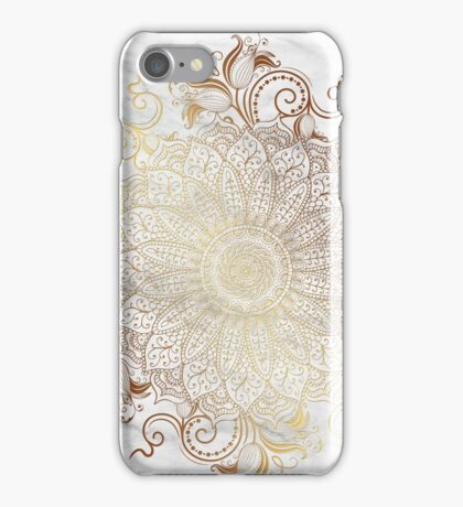 Mandala - Marble gold iPhone Case/Skin