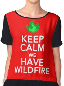 Keep Calm We Have Wild Fire Chiffon Top