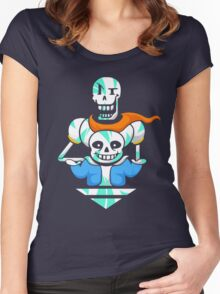 Sans and Papyrus Arrow Women's Fitted Scoop T-Shirt