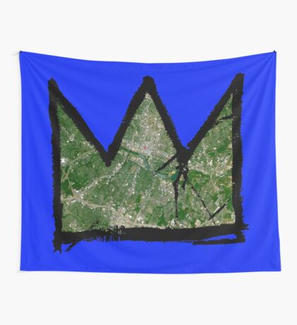 "Basquiat ""King/Queen of Austin Texas"" Wall Tapestry"