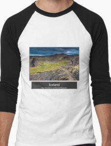 Iceland Men's Baseball ¾ T-Shirt
