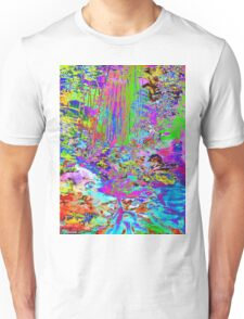 Psychedelic Forest Stream Unisex T-Shirt