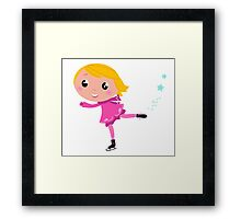 Figure skating Girl in pink costume Framed Print
