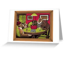 Dogs Playing Dungeons & Dragons Greeting Card