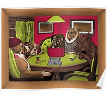 Dogs Playing Dungeons & Dragons Poster