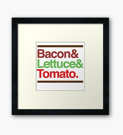 Bacon Lettuce & Tomato Framed Print