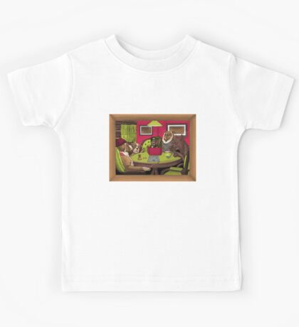 Dogs Playing Dungeons & Dragons Kids Tee