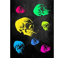 Van Gogh Skull with burning cigarette remixed Photographic Print
