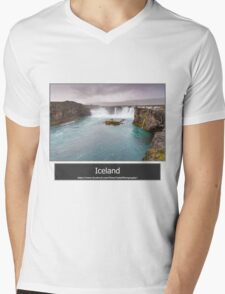 Iceland Mens V-Neck T-Shirt