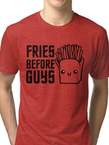 Fries Funny I love Food Junk  Fast Food Fat  Tri-blend T-Shirt