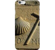 scallop shell symbol, Santiago de Compostela , Spain  iPhone Case/Skin