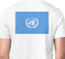 Flag of the United Nations, UN FLAG, FLAG OF THE UN, PURE AND SIMPLE Unisex T-Shirt