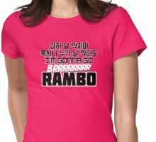 Gonna go brrrr RAMBO! PNK Womens Fitted T-Shirt