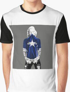 Marilyn Monroe For Dallas Cowboys Graphic T-Shirt