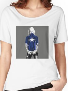 Marilyn Monroe For Dallas Cowboys Women's Relaxed Fit T-Shirt