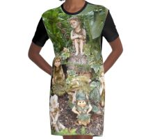 There are fairies at the fottom of my garden Graphic T-Shirt Dress