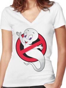 Casper Busted Women's Fitted V-Neck T-Shirt